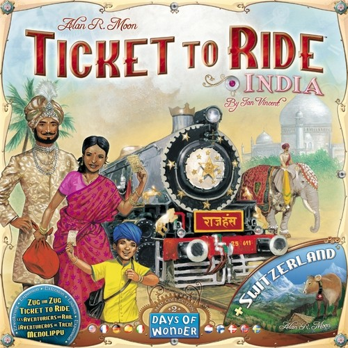 Ticket to Ride - India si Elvetia
