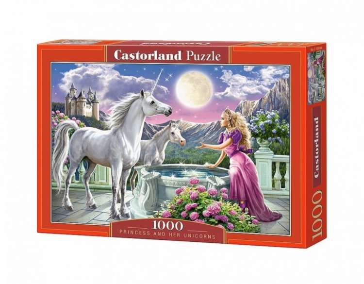 Puzzle 1000 piese Princess and her Unicorns