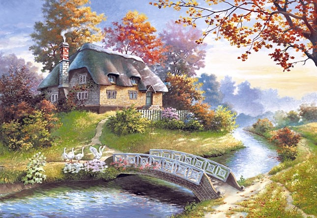 Puzzle 1500 piese Cottage